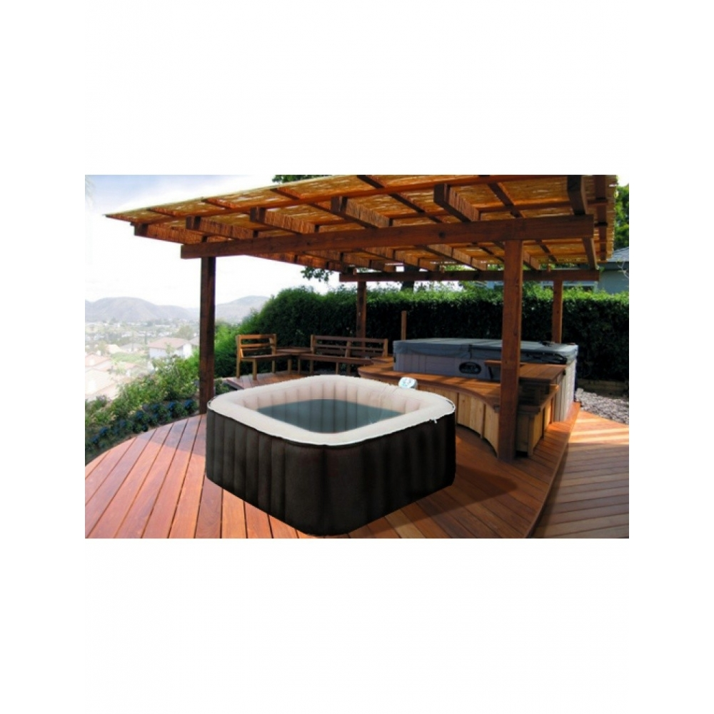 Spa gonflable spark 8 places - Jacuzzi gonflable carre ...