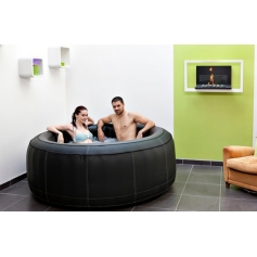 Spa gonflable SPARK rond en cuir 4 places