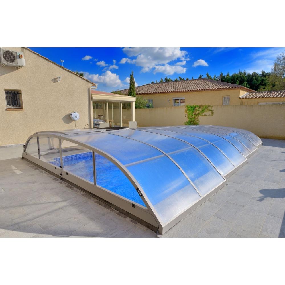 Abri bas t lescopique sans rails livraison offerte for Accessoire abri piscine