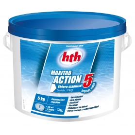 Chlore multifonction ACTION 5 Maxitab 200g hth - SPECIAL LINER