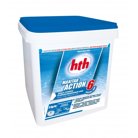 Chlore multifonction ACTION 6 Maxitab 250g hth - SPECIAL LINER