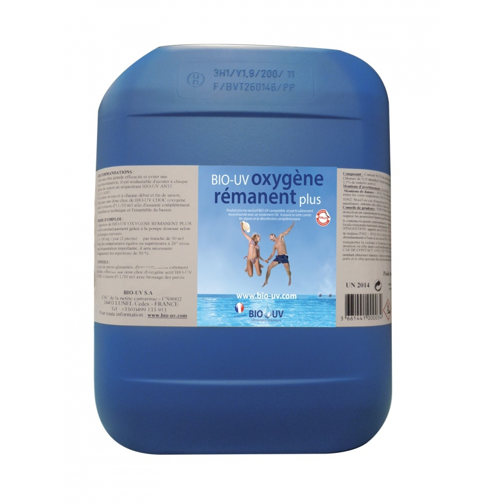 Superb oxygene actif pour piscine 2 bio uv oxygene for Traitement piscine oxygene actif