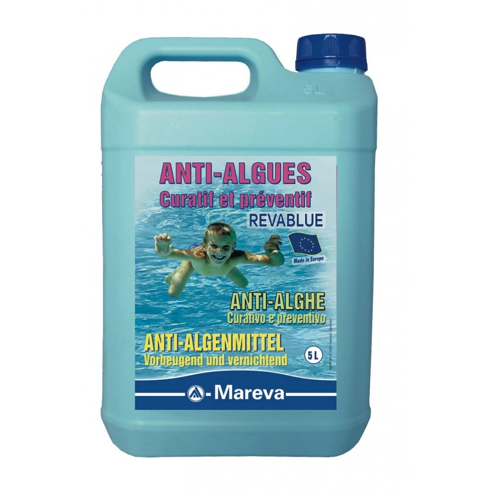Algicide revablue mareva for Produit pour piscine