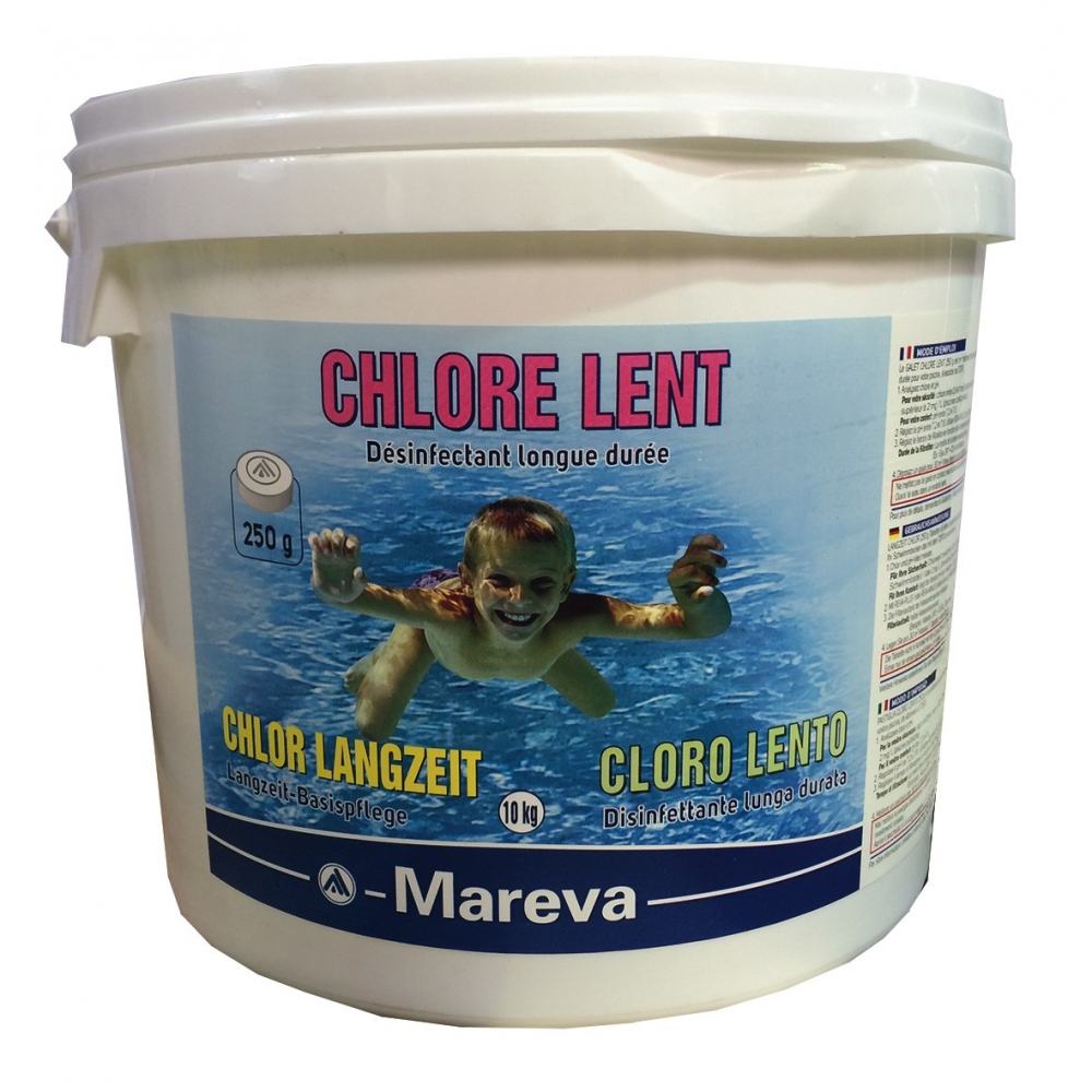 Galets de chlore lent reva klor 250 g mareva - Pastille chlore piscine gonflable ...