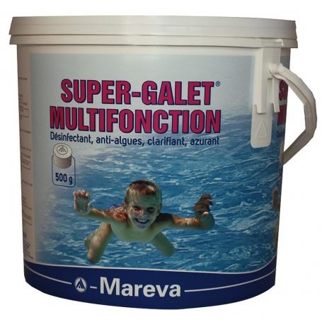 SUPER GALETS de chlore lent multifonction 500g 5 kg- Mareva