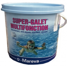 SUPER GALETS de chlore multifonction emballé Reva-Klor 250g