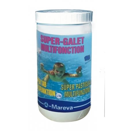 Galets de chlore multifonction 200 g 1.2 kg - Mareva