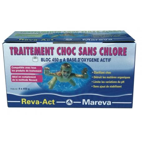 Traitement choc sans chlore à base d'oxygene actif REVA-ACT - Mareva