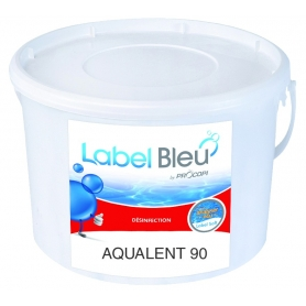 Galets de chlore lent AQUALENT 90 - Label Bleu