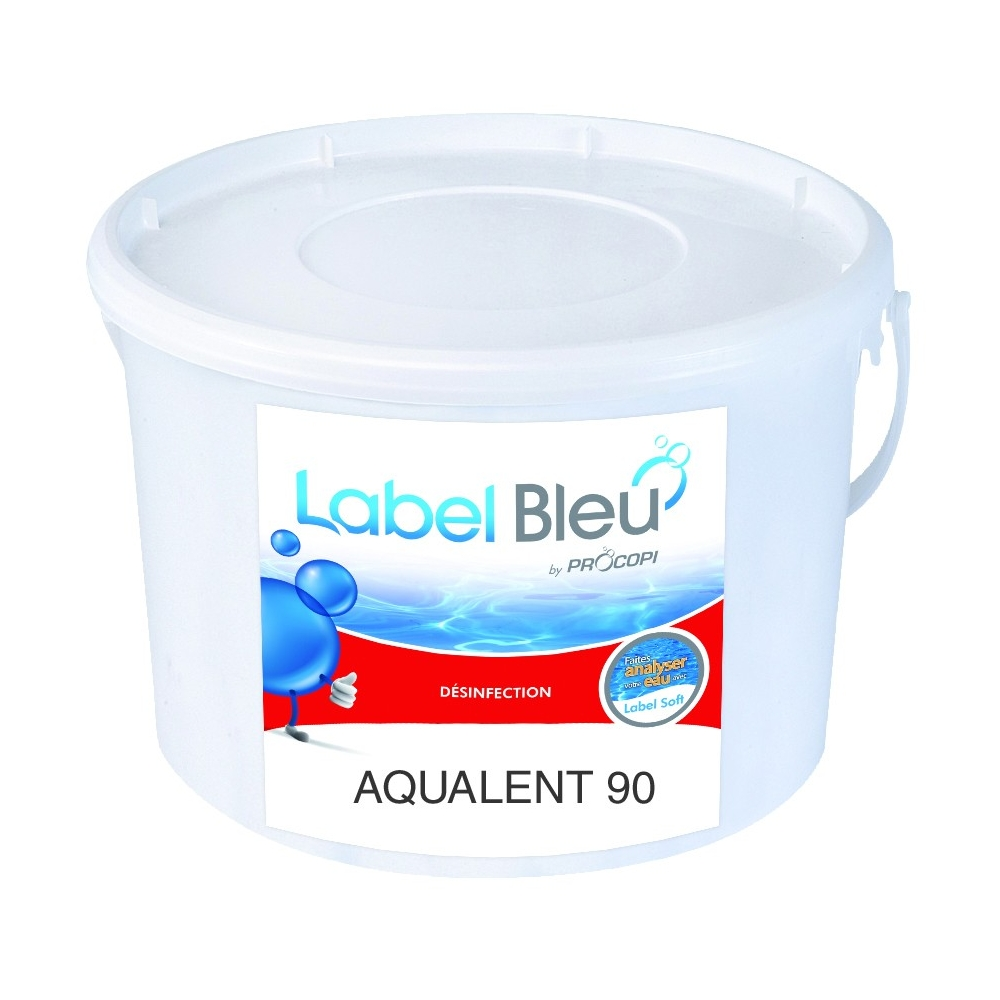 Galets de chlore lent aqualent 90 label bleu for Piscine produit