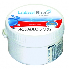 Galet de chlore lent Label Bleu AQUABLOC 500