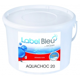 Traitement choc au chlore AQUACHOC 20 - Label Bleu