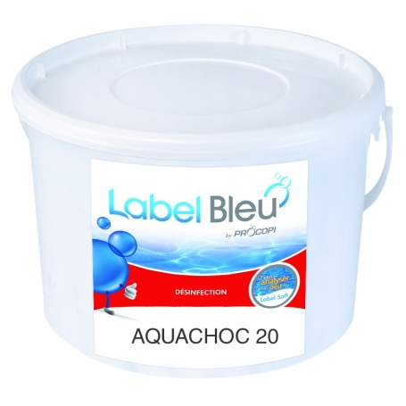 traitement choc au chlore aquachoc 20 label bleu. Black Bedroom Furniture Sets. Home Design Ideas