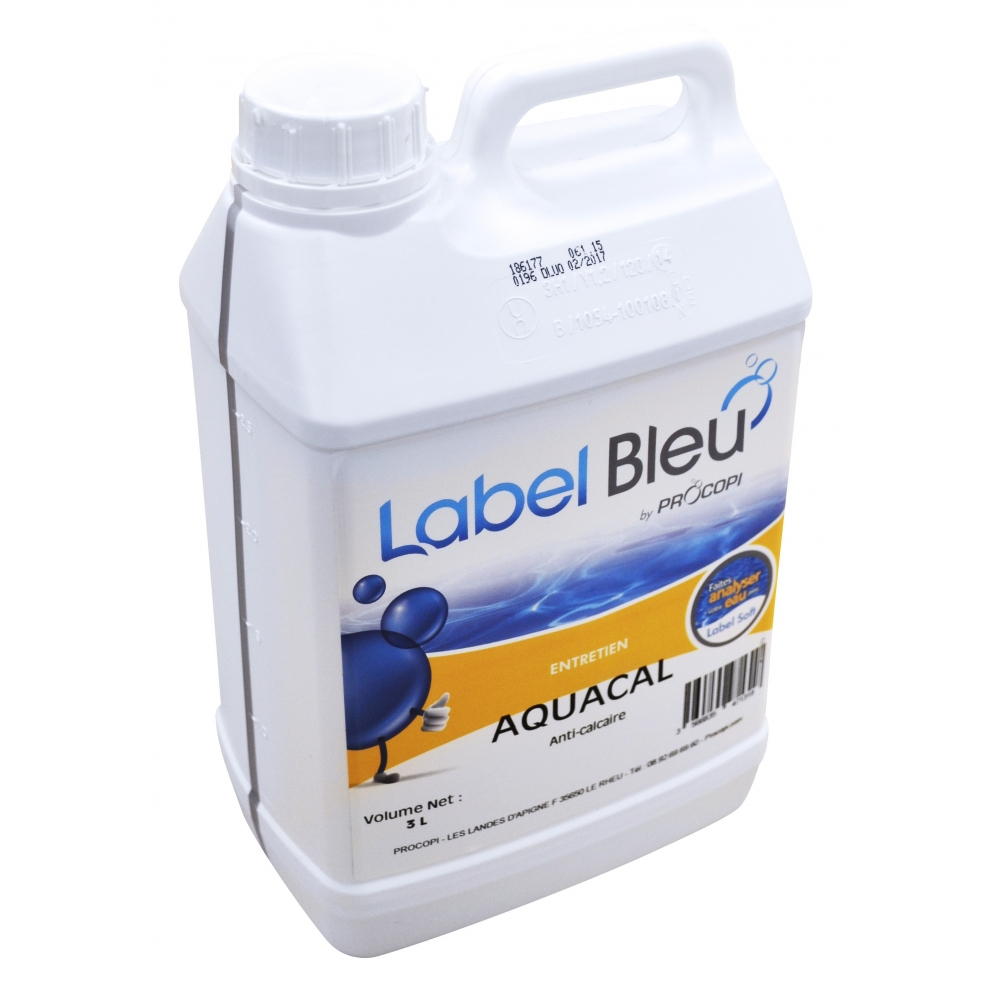 Anti calcaire aquacal 3 l label bleu for Produit anti calcaire piscine