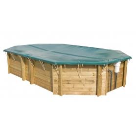 Couverture d'hiver pour piscine bois octogonale