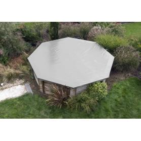 Couverture d'hiver de sécurité pour piscine bois