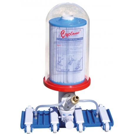 Aspirateur de piscine cyclone cartouche efficace et for Aspirateur piscine cyclone