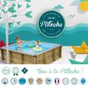 Piscinette Bois PISTOCHE 2x2 m pour enfants