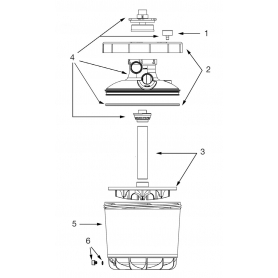 Accastillage pour filtre P-FI 400/500 piscine bois