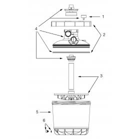 Cuve avec purge pour filtre P-FI 500