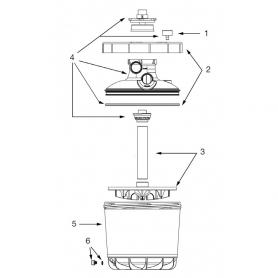 Couvercle complet pour filtre P-FI-400