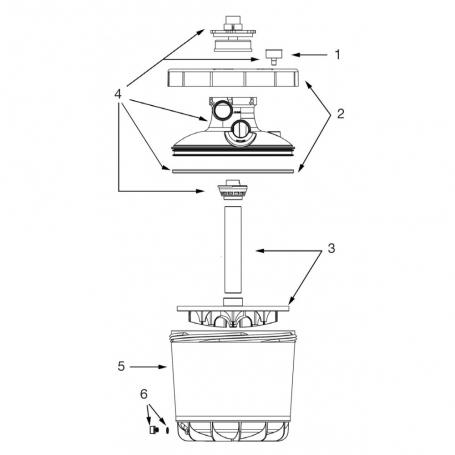 Couvercle complet pour filtre P-FI 500