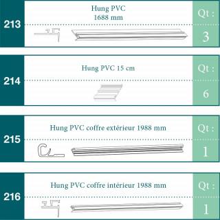 Ensemble hung PVC pour PISTOCHE