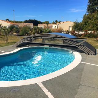 Abri de piscine cintré ABRITECH