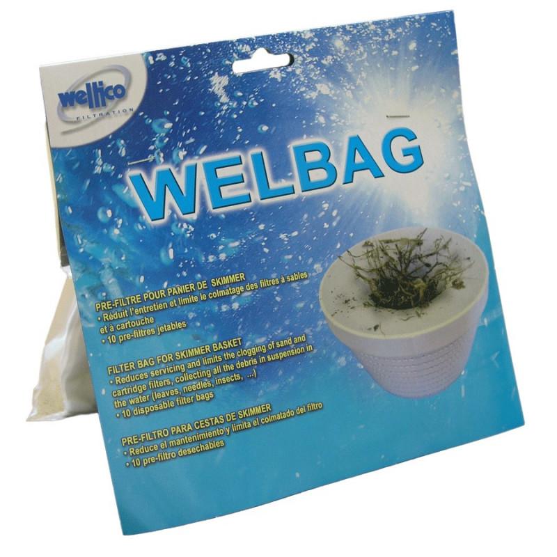 WELBAG - Pre-Filtre pour panier de skimmer (lot de 10)