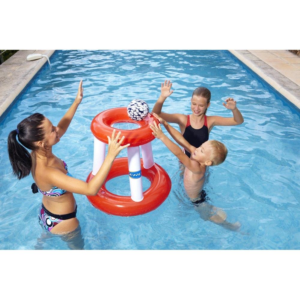 Panier de basket gonflable pour piscine for Panier de basket pour piscine