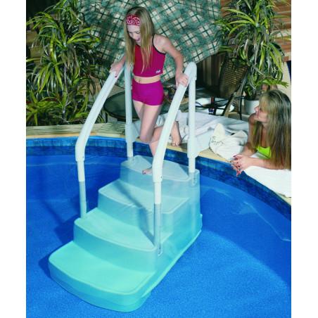 Escalier droit FIESTA pour piscine hors sol et enterrée