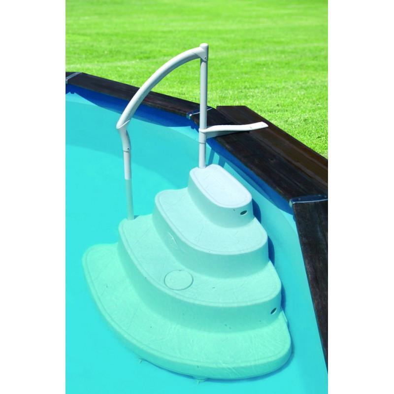 Escalier majestic pour piscine hors sol - Piscine hors sol avec escalier interieur ...