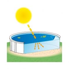 Couverture d'été CLA-200 pour piscine hors sol ronde