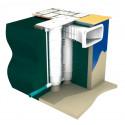 Ecumeur double filtration TWINFILTRE A400 ELEGANCE pour bloc filtrant