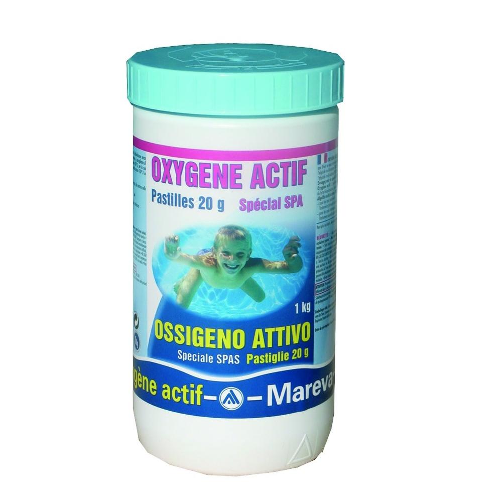 Mareva traitement loxygene actif en pastilles traitement for Traitement piscine oxygene actif