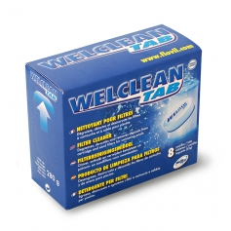 Nettoyant filtres piscine WELCLEAN - Weltico en boite de 8 tablettes